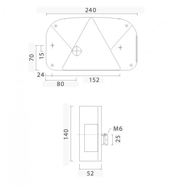 asp ck multipoint 2 baglygte kvalitets lygter til trailer. Black Bedroom Furniture Sets. Home Design Ideas