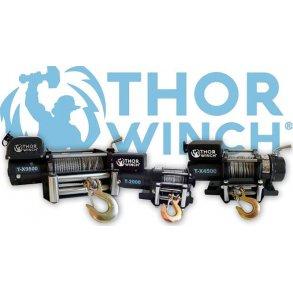 Thor Winch 12V elvinschar 12V, drakraft ifrån 907 til 4309 kg.